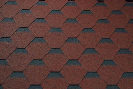 Skraa tehlovo cervena kontura - asfaltové šindle