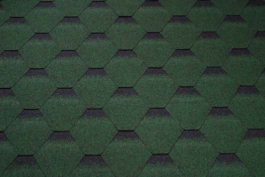 Skraa zelena kontura - strešné šindle