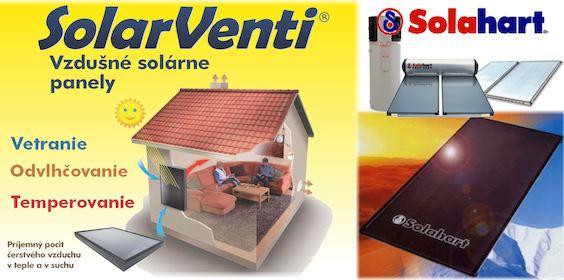 Slnečné kolektory na ohrev TÚV SOlahart a teplovzdušné panely Solarventi