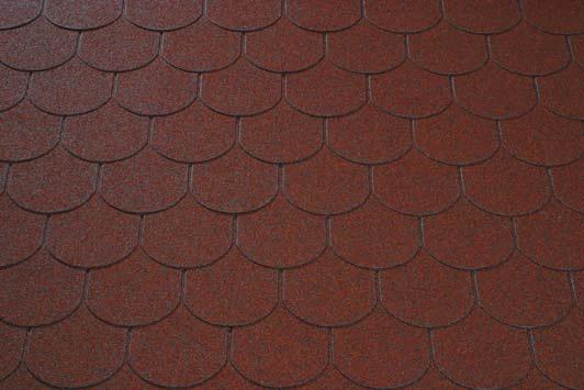bobrovka cervena - asfaltový šindeľ